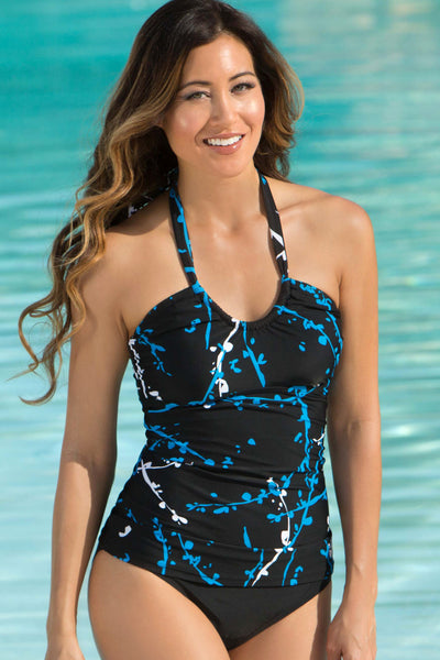 Mastectomy Friendly Pocketed Scoop Neck Bathing Suit