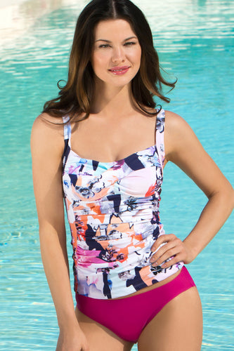 Mastectomy Friendly Pocketed Bathing Suit - Slimming Tankini
