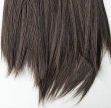 Gray Corduroy Cap with Partial Wig