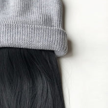 Stylish Soft Cashmere Beanie with Attached Hair Piece Extensions From Dear Martha