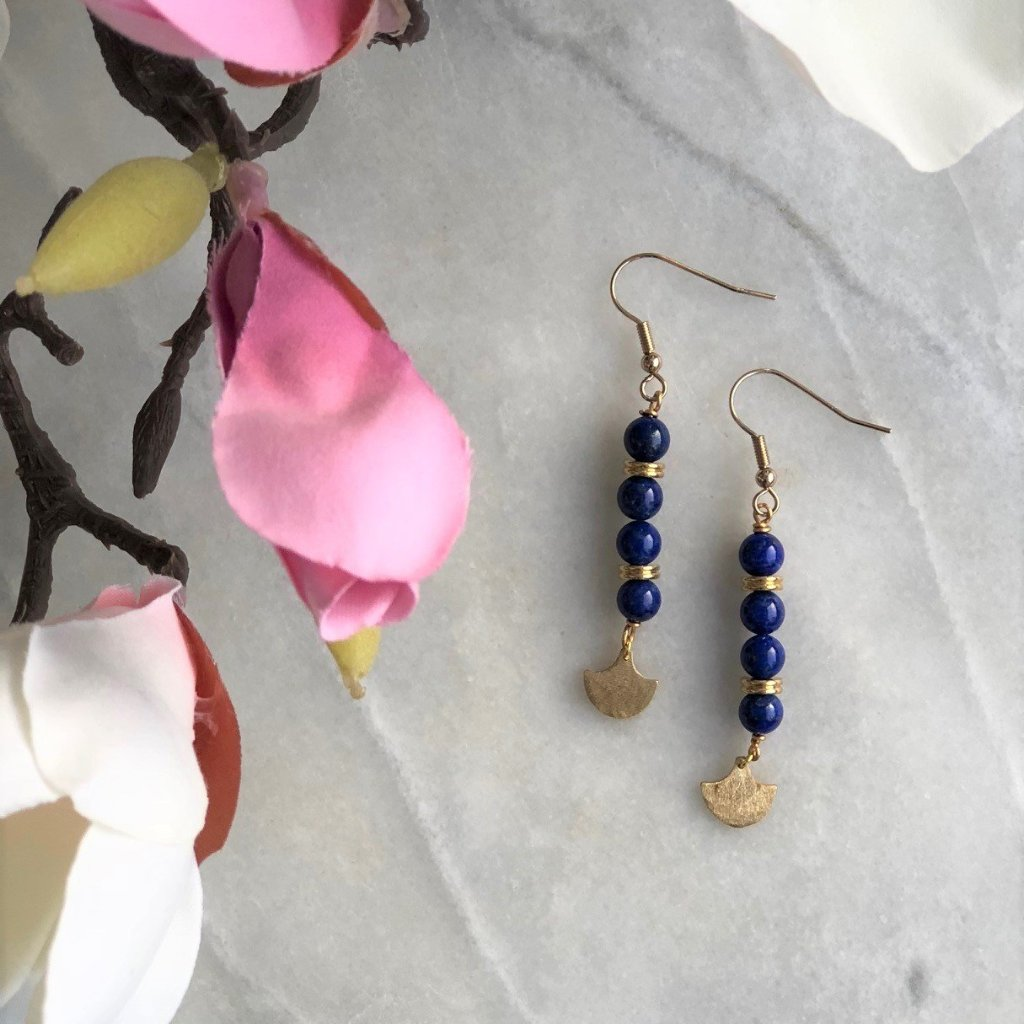 Lapis Lazuli Earrings - Gift For Someone Living with Cancer