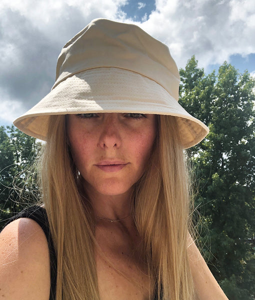 Dear Martha - Halo wig bucket hat for hair loss