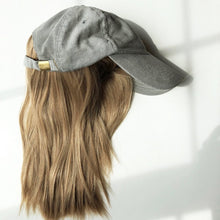 Gray Corduroy Cap with Partial Wig - Gorgeous You, Dear Martha