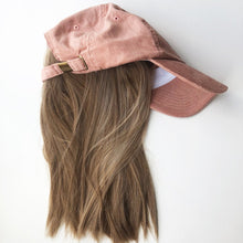 Pink Corduroy Cap with Partial Wig - Gorgeous You, Dear Martha