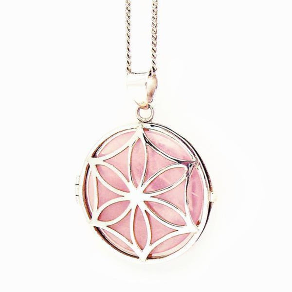 Rose Quartz Locket - Gift For Someone Living with Cancer