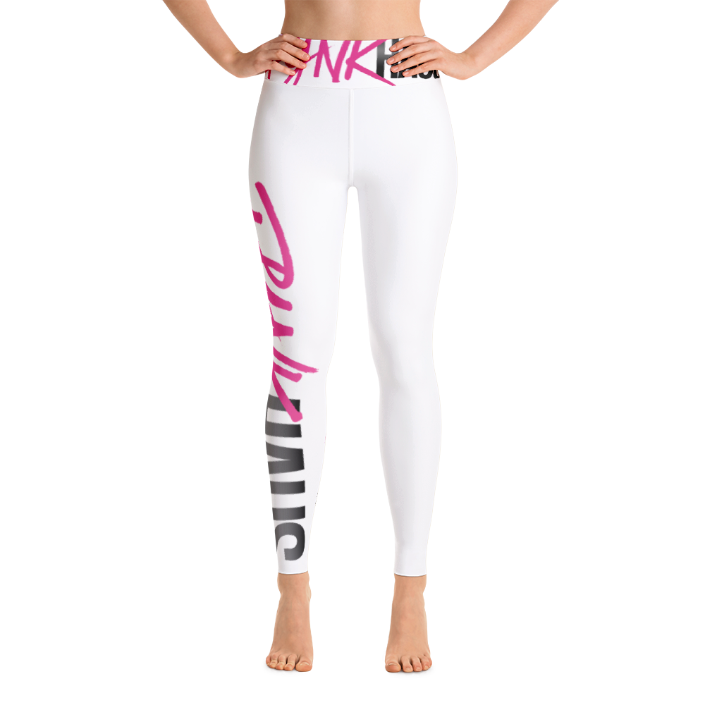 These versatile and super-stretchy high-waisted women's yoga leggings with Pynk Haus logo is a classic with an inner pocket. Perfect for downward-dogging.