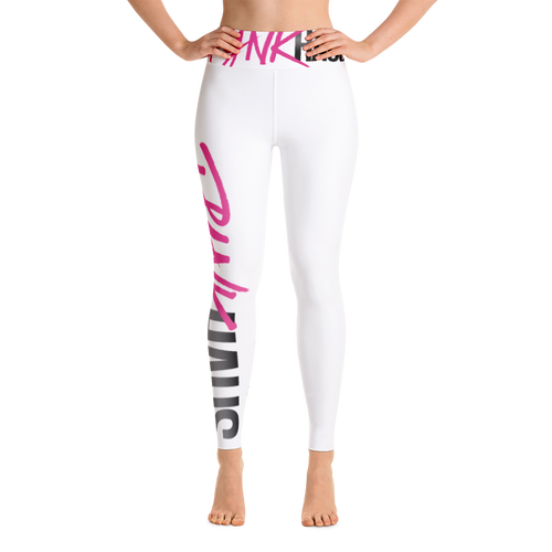 Classic Pynk Haus High-Waist Leggings (White)