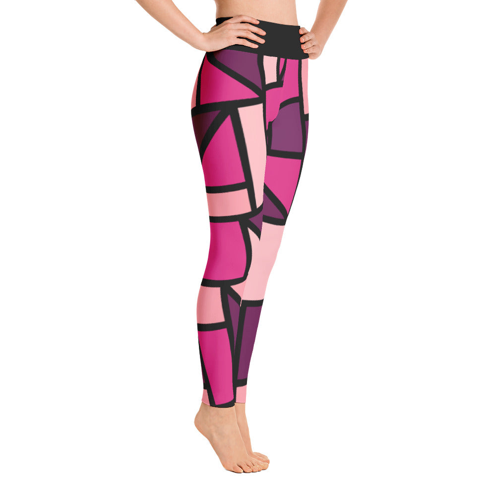 Pynk Haus fitness leggings with raised waist band