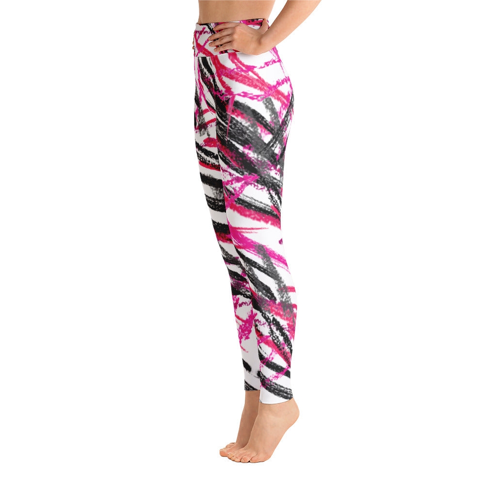 Pink and black leggings by Pynk Haus.  Fitness yoga pants at pynkhaus.com