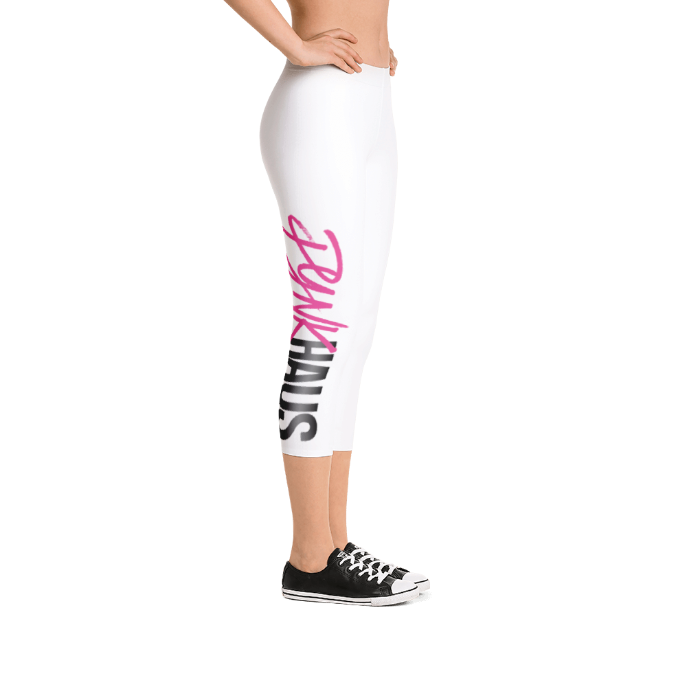 white 3/4 capri leggings by Pynk Haus
