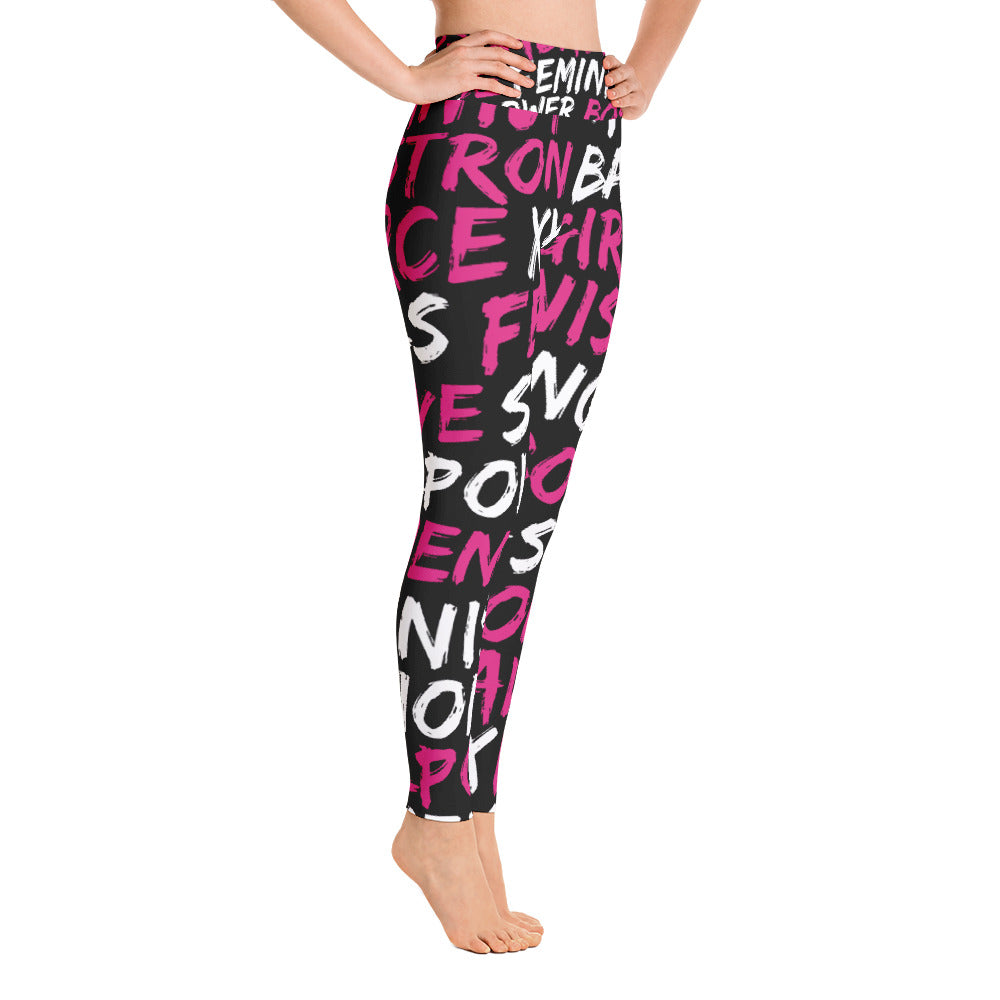 Feminist high-waisted tights by Pynk Haus fitness leggings