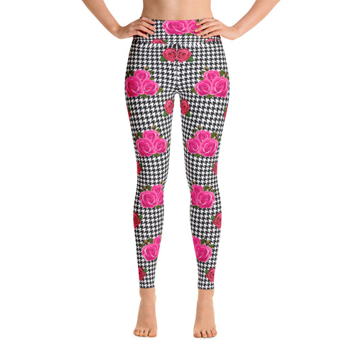 Pynk Houndstooth Yoga Leggings