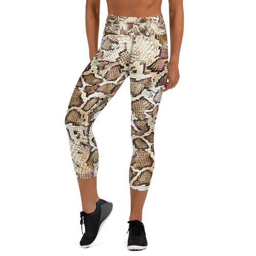 Snake Skin Yoga Capri Leggings