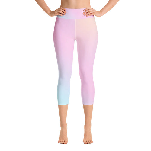 Pynk Holographic Capri Leggings