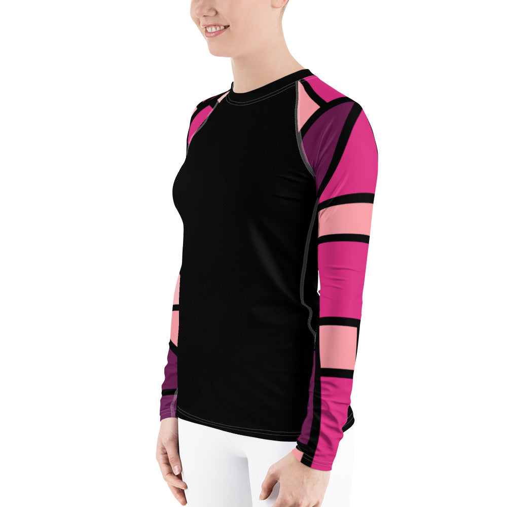 Pink sleeved ladies rash guard by Pynk Haus