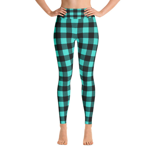 Green Lumberjack Leggings