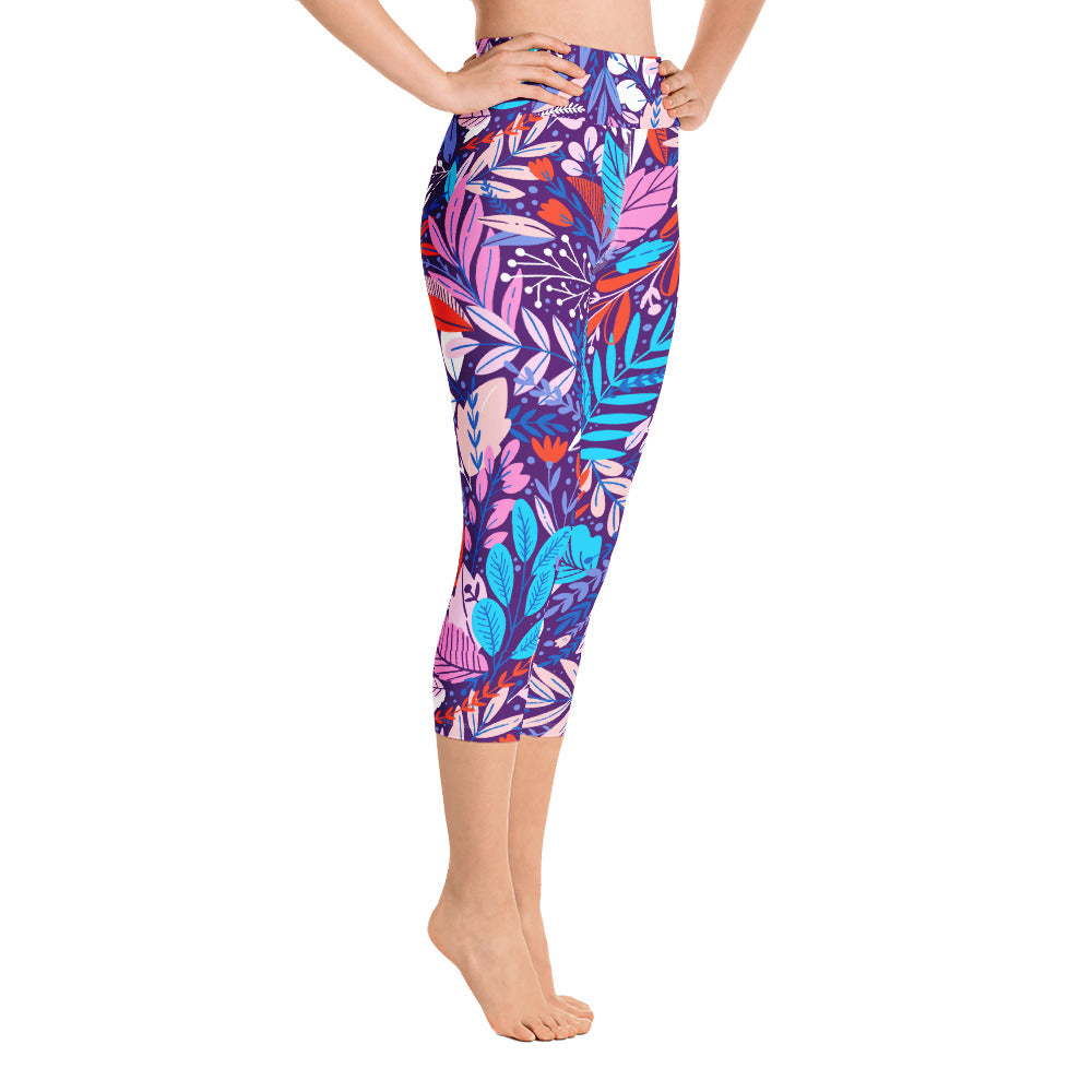 Pynk Island Yoga Capri Leggings