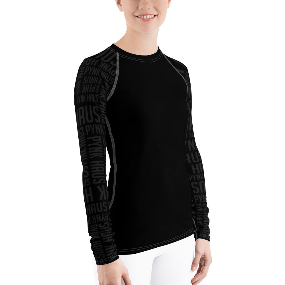 Rash guard by Pynk Haus fitness in black