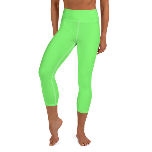 Limeade Yoga Capri Leggings