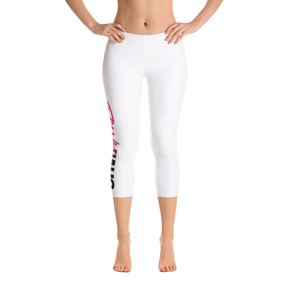 Classic white capri leggings by Pynk Haus