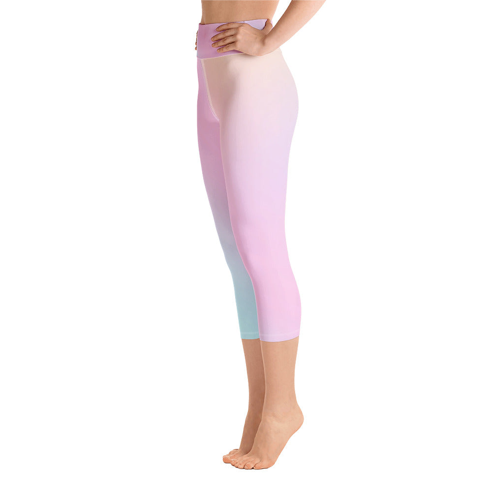 Holographic Capri Yoga Leggings