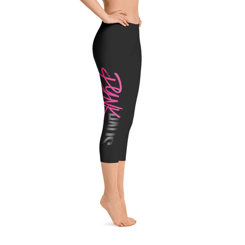 Capri Logo Leggings by Pynk Haus (Black)