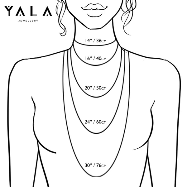 Yala Jewellery Necklace Length Chart