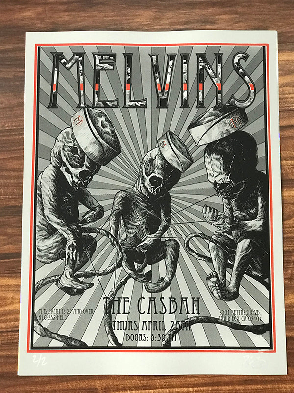The Melvins Lemon Grass Variant Concert Poster