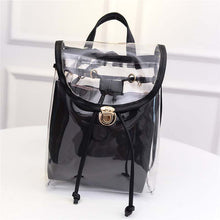 Clear Stylish Back Pack - ladies unlimited direct