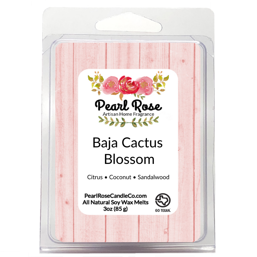 Baja Cactus Blossom - Soy Wax Melt - Pearl Rose Candle Co