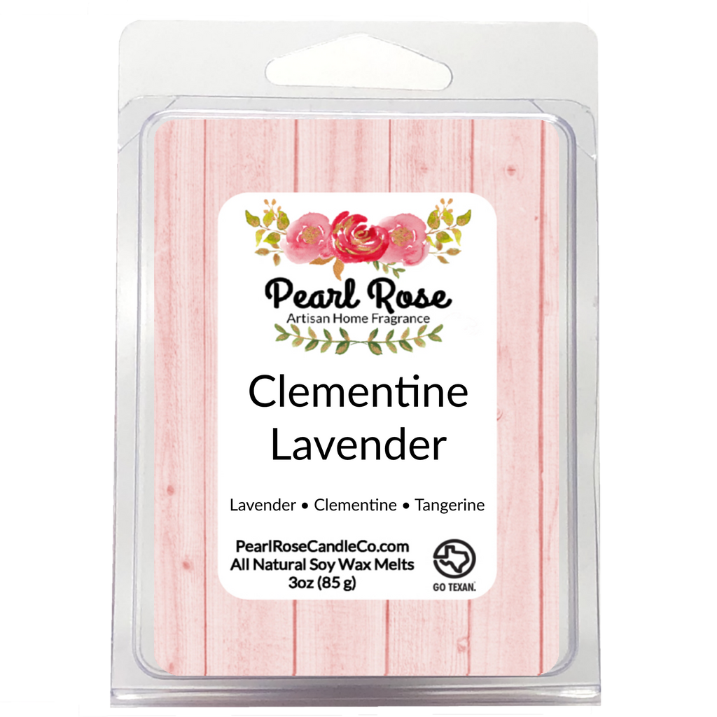 Clementine Lavender- Soy Wax Melt - Pearl Rose Candle Co