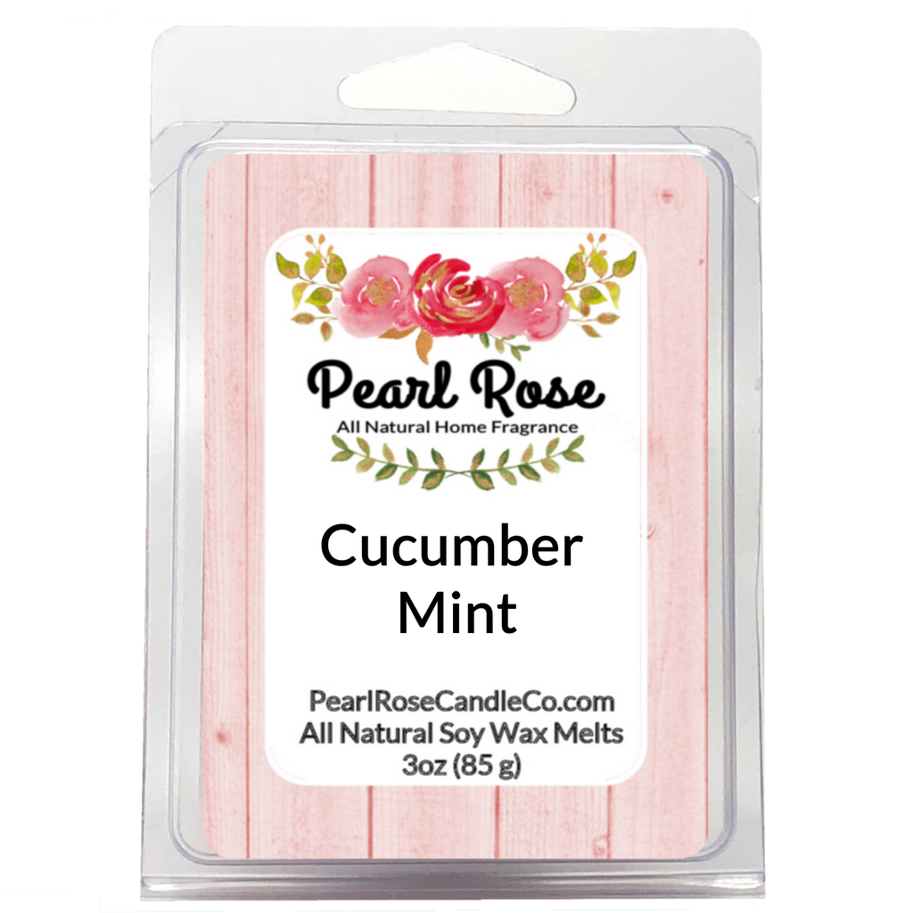 Cucumber Mint- Soy Wax Melts - Pearl Rose Candle Co