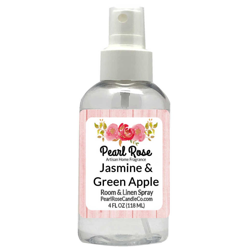 Jasmine & Green Apple - Room & Linen Spray - Pearl Rose Candle Co