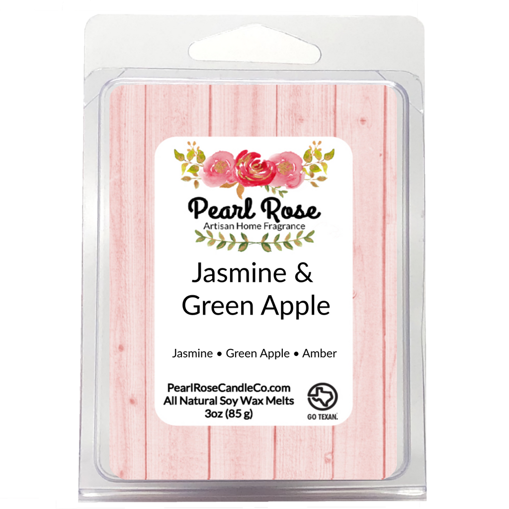 Jasmine & Green Apple - Soy Wax Melt - Pearl Rose Candle Co