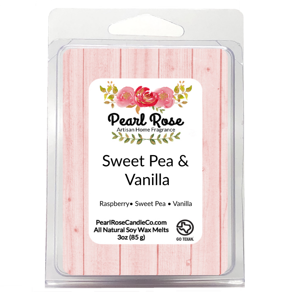 Sweet Pea & Vanilla - Soy Wax Melt - Pearl Rose Candle Co