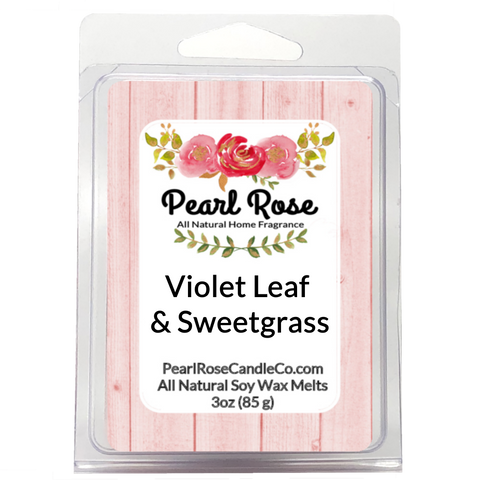 Violet Leaf & Sweetgrass- Soy Wax Melts