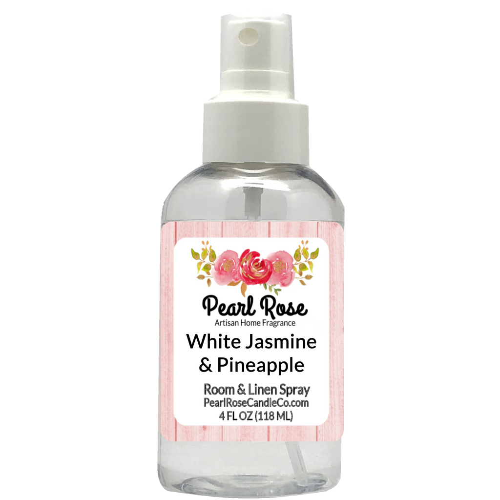 White Jasmine & Pineapple- Room & Linen Spray - Pearl Rose Candle Co