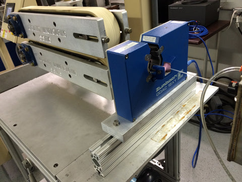Extrusion Puller with Zumbach Laser 3D Filament