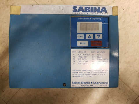 Sabina Electric & Engineering Drive, 5HP, 460V