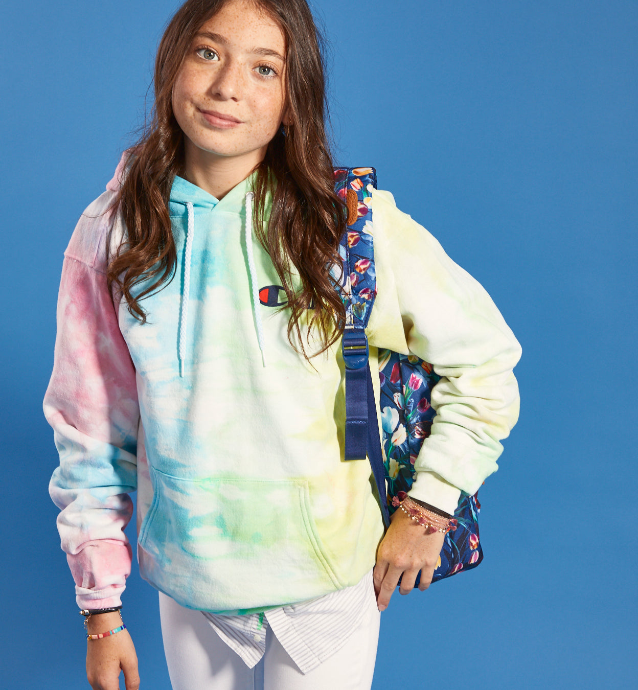Chillin Tie Dye Hooded Sweatshirt