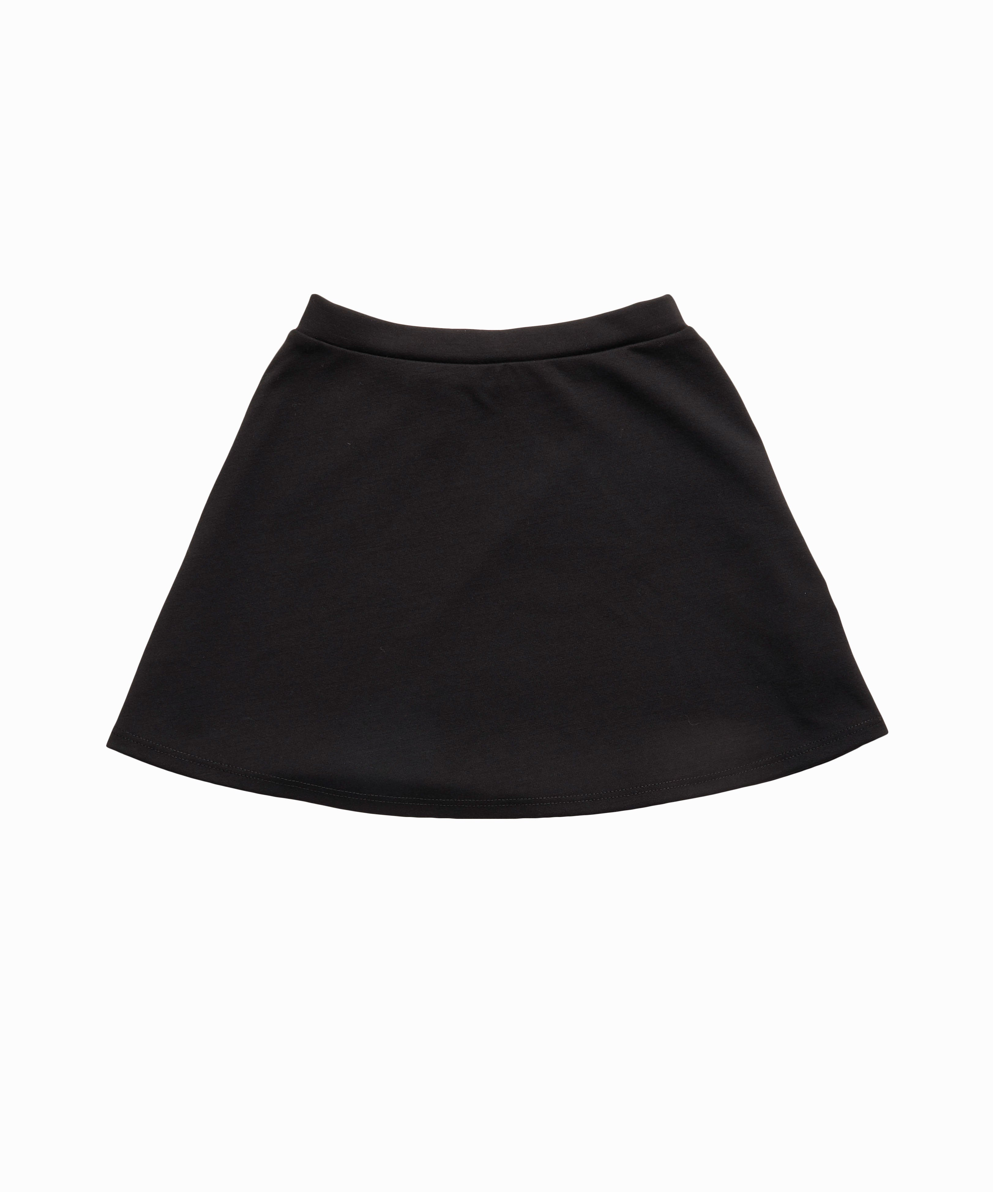 Basic Ponte Black Flare Skirt