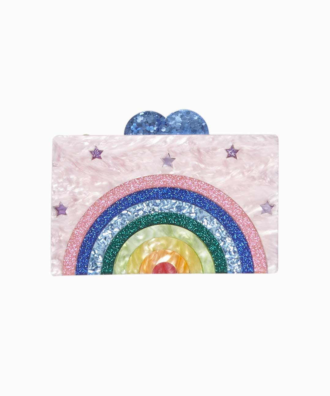 Rainbow Acrylic Box Clutch Bag