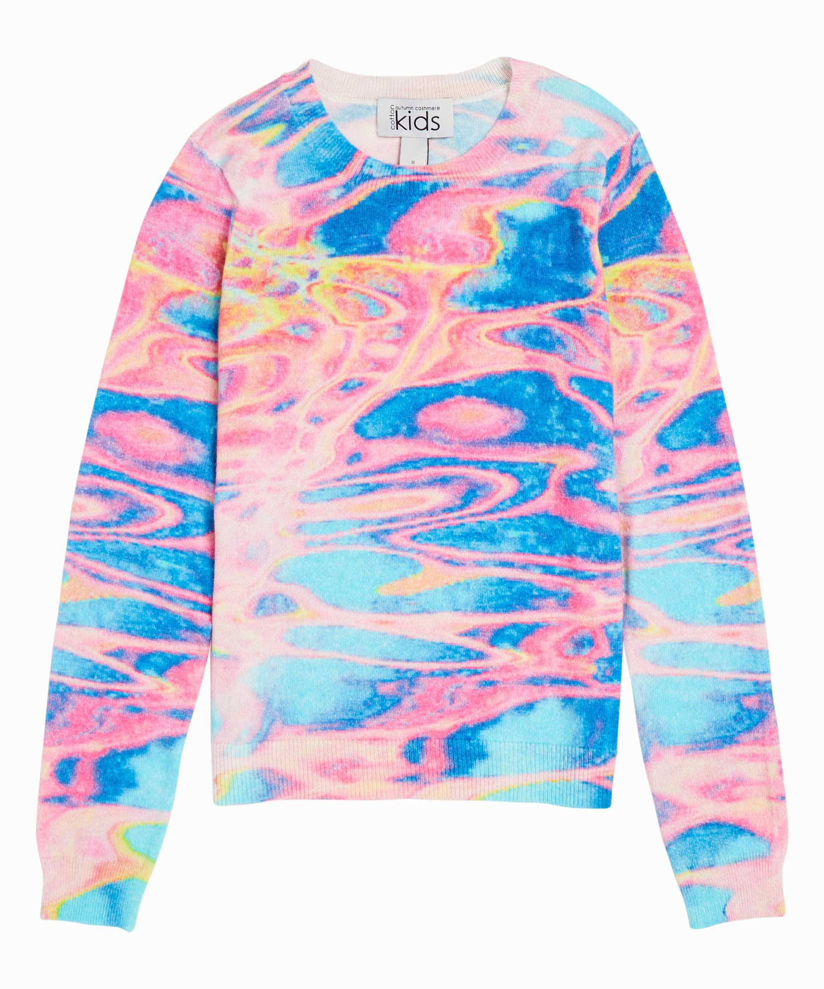 Watercolor Paint Print Knit Sweater
