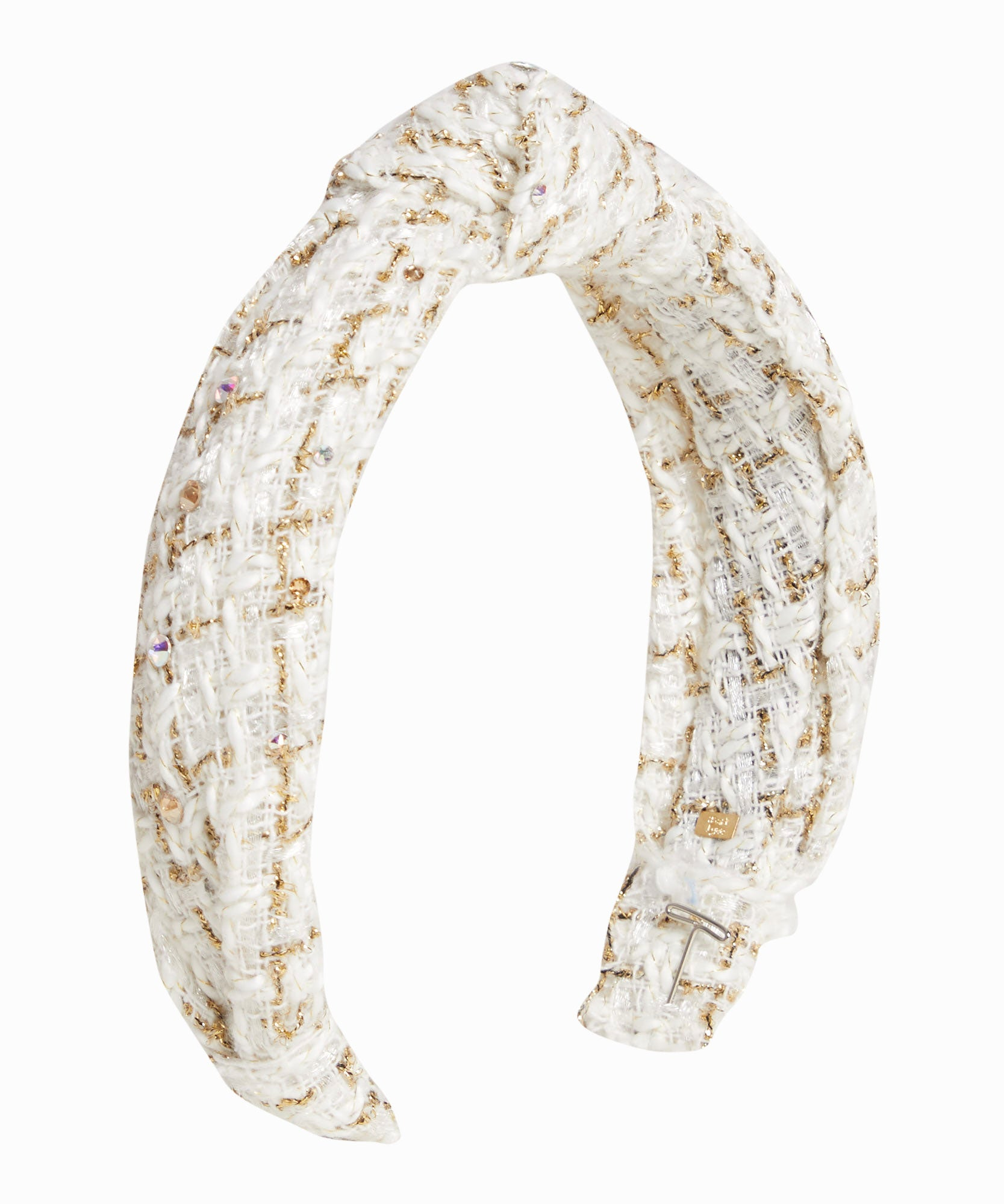 Ivory Tweed Knot Headband