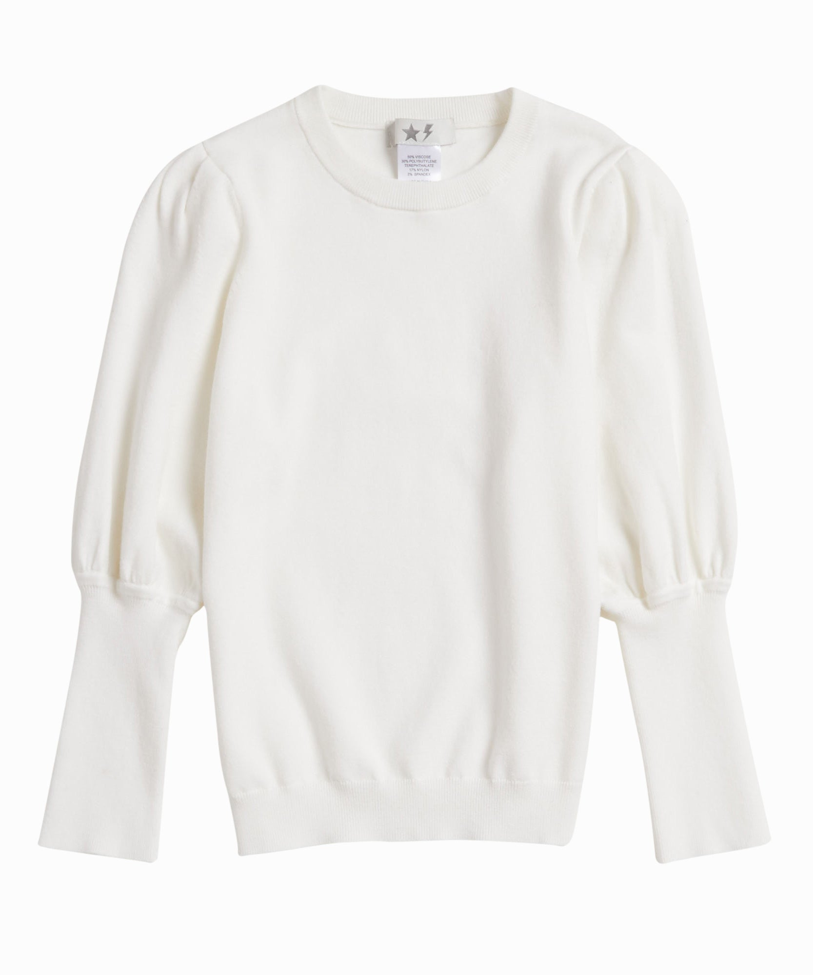 Exclusive Puff Sleeve Knit Sweater