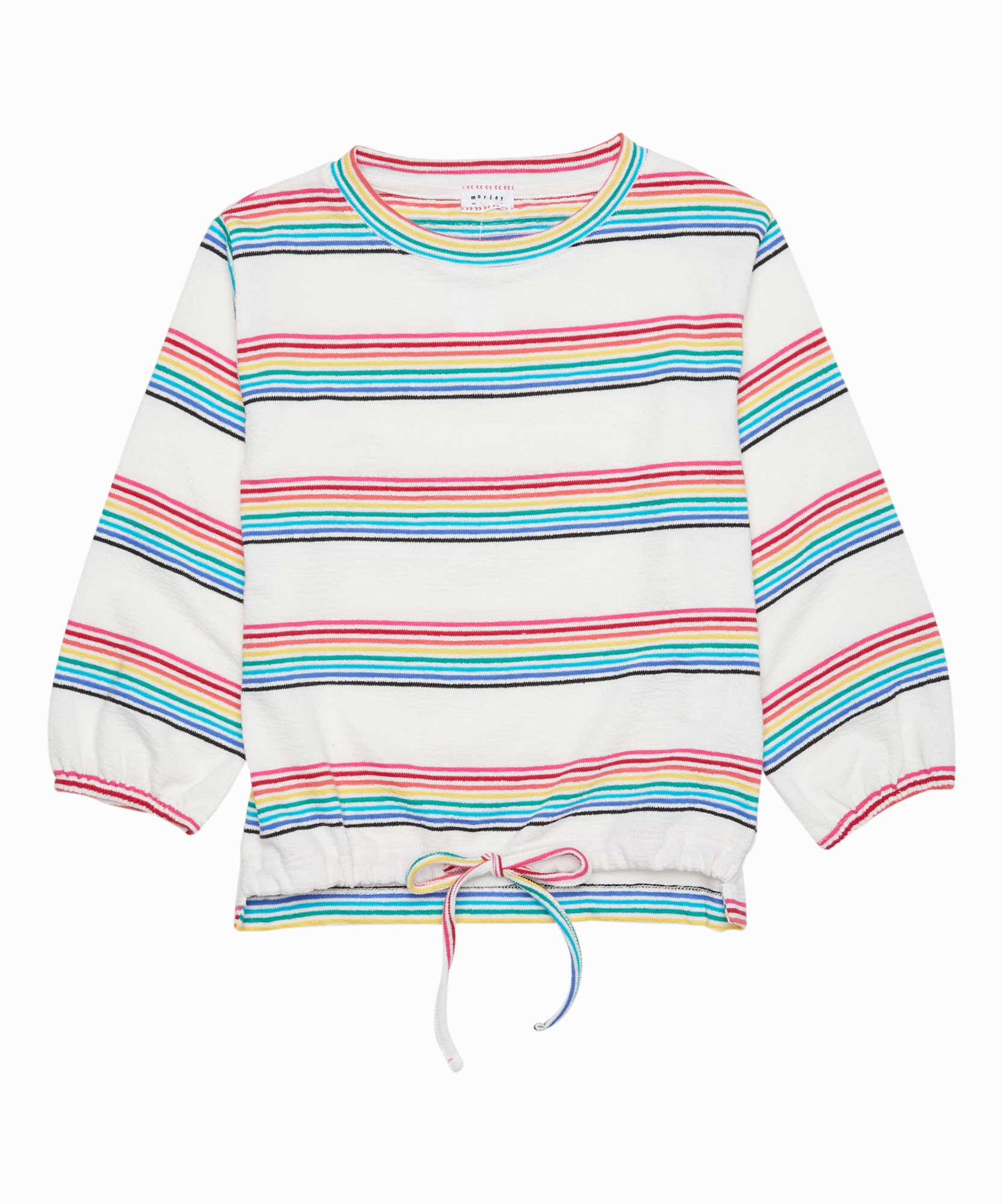 Lori Rainbow Striped Sweatshirt
