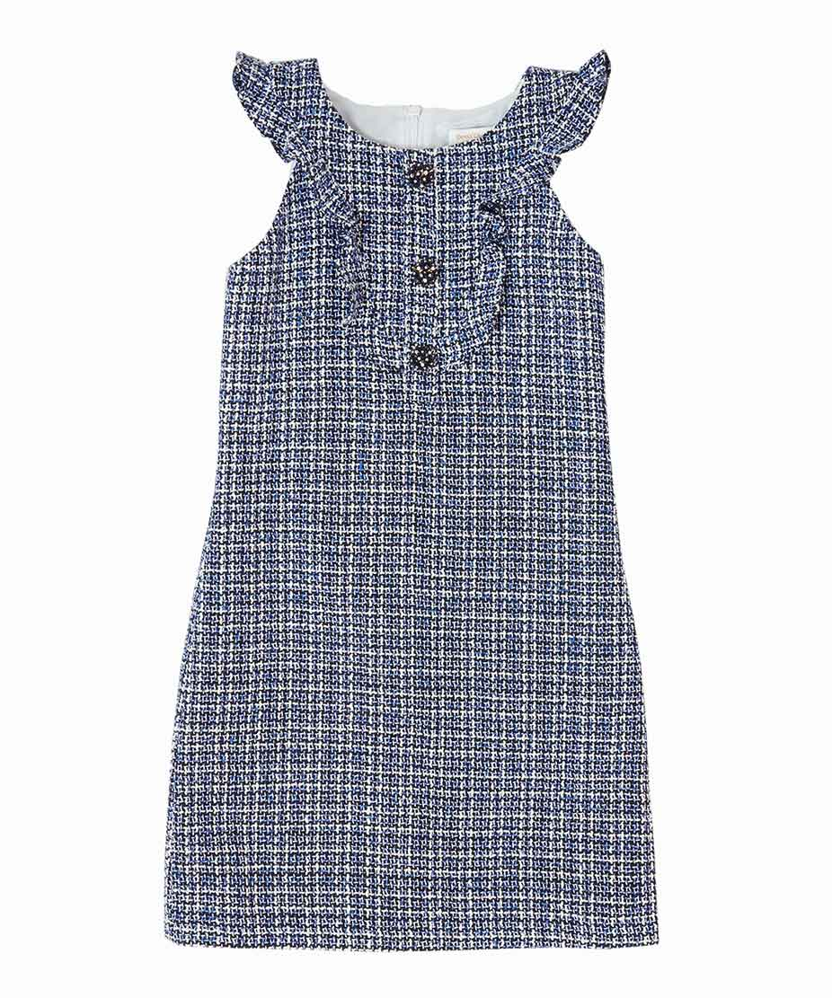 Tweed Ruffle Dress