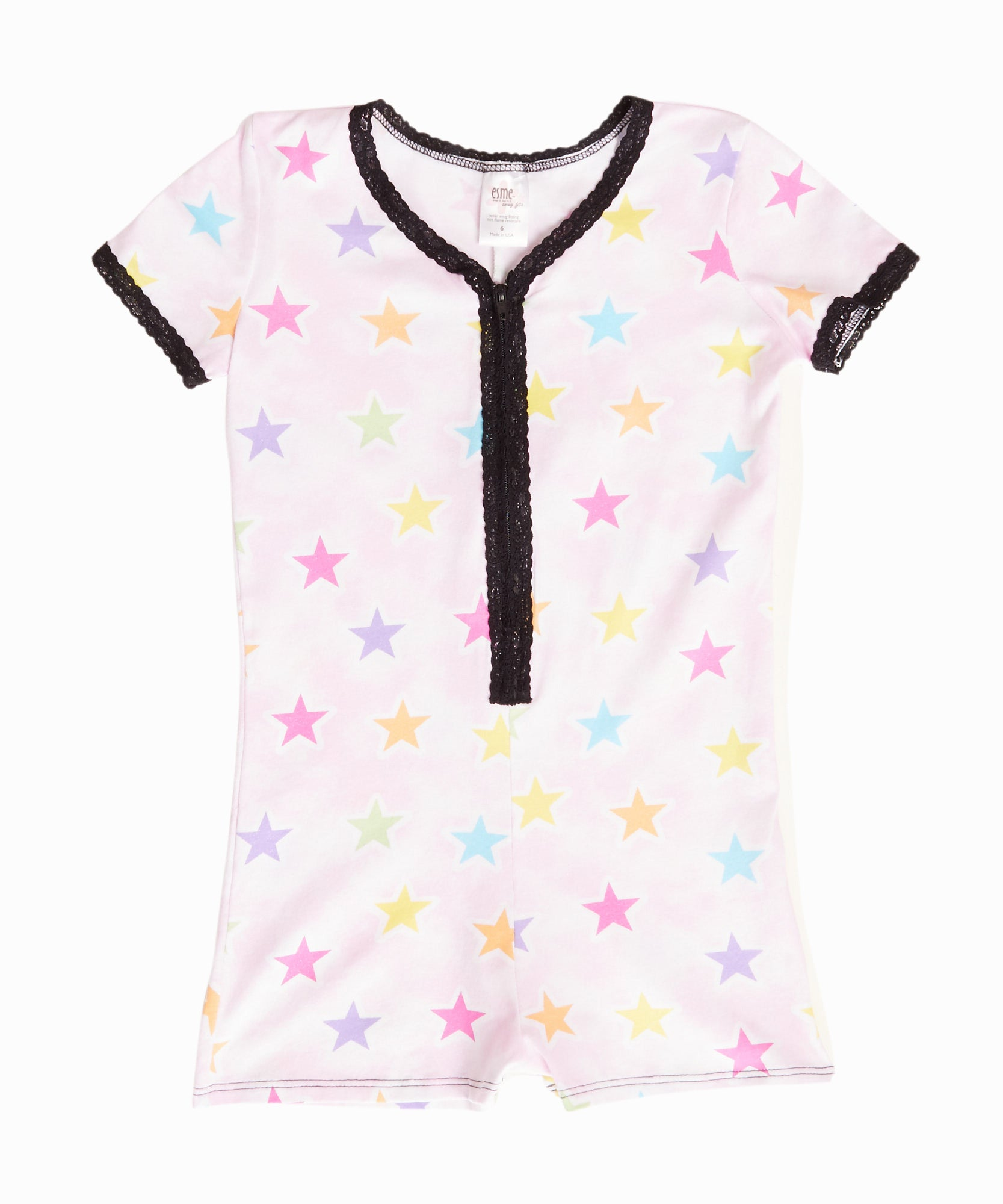 Short Sleeve Shimmer Star Romper
