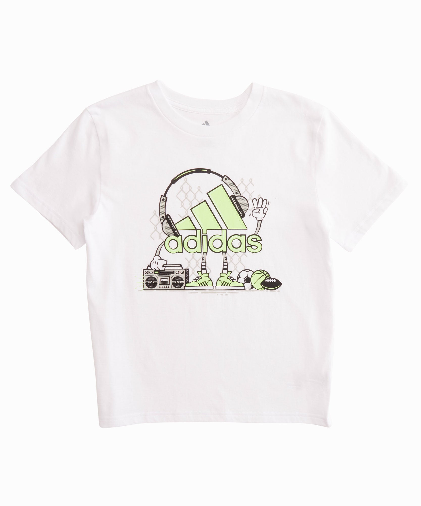 Jam out in this Adidas cotton tee, perfect for Summer play days.