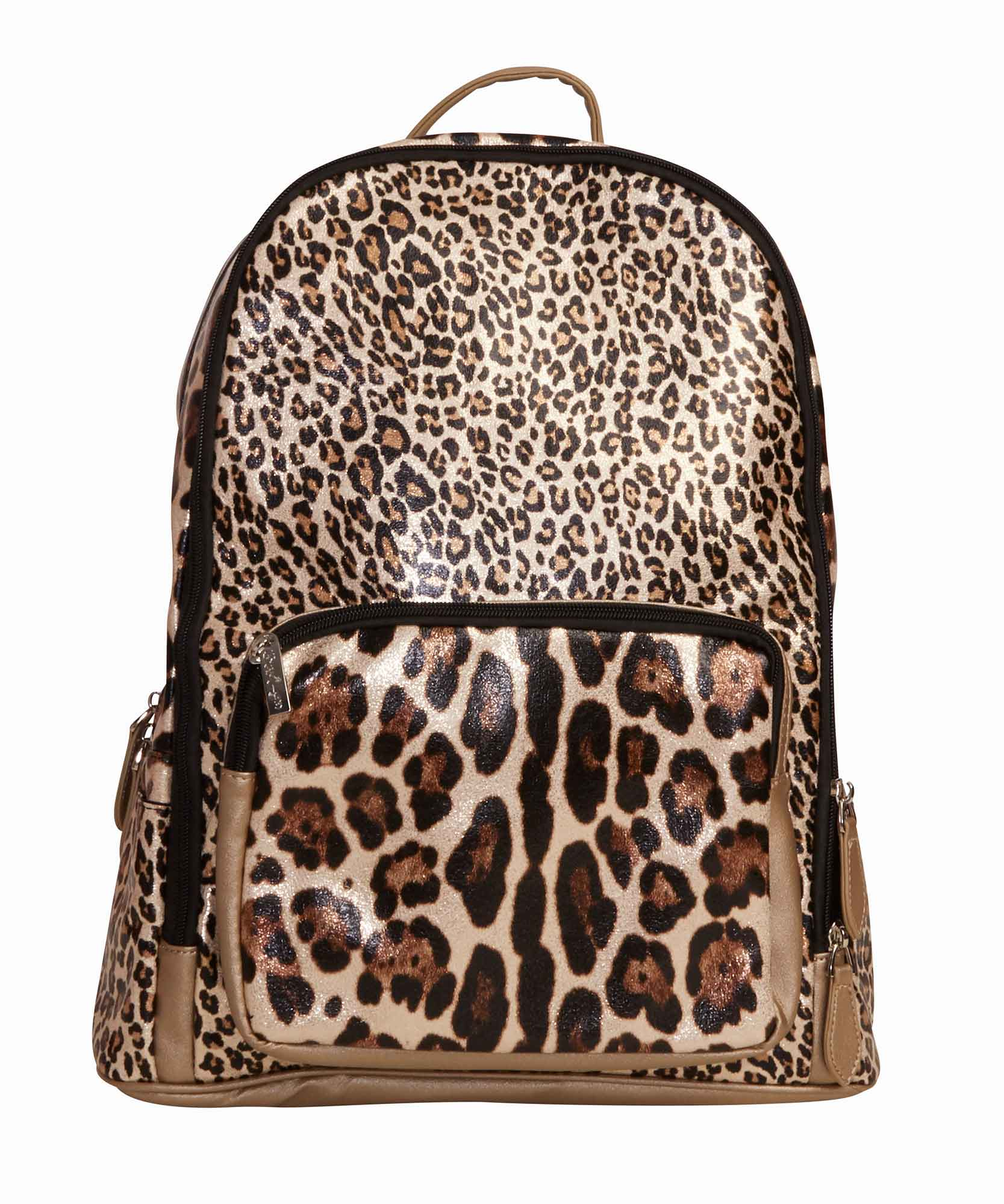 Gold Leopard Backpack